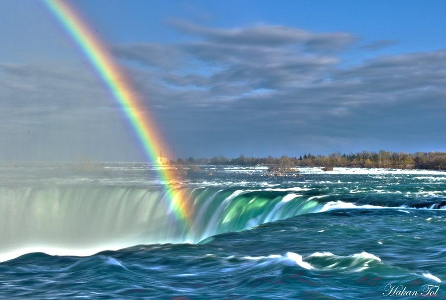 Niagara Falls Magnificent Rainbows Niagara Falls Canada