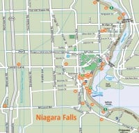 Niagara Falls Destination Map