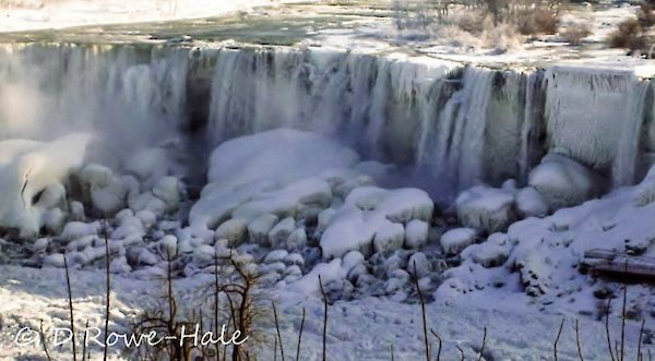 American Falls taken after the polar vortex by Donna Rowe-Hale