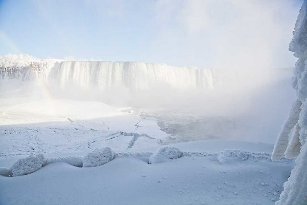 Canadian Horseshoe Falls after the polar vortex photo taken by Adam McInnies