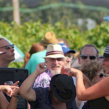 The crowds dance it up at the Trius Jazz Festival Saturday afternoon. Photo by Toni Williams